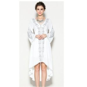 b2109a6ca5 Dresses | Lamia Long Sleeve White Boho High Low Dress | Poshmark